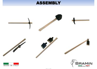 ASSEMPLY wooden handles
