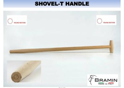 T形铲木制手柄