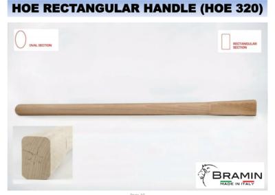 HOE RECTANGULAR HANDLE 320