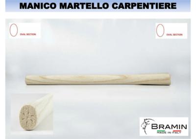 MANICI IN LEGNO per martelli carpentiere